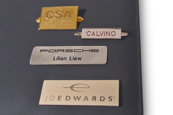 Metal plates for cover logo